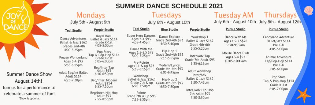 2021 Summer Dance Printable